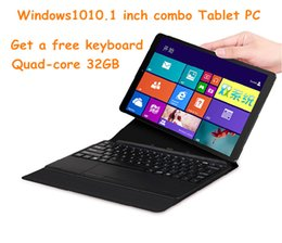 Wholesale Dual Core Pc Tablet Notebook - 2017 SONQI 10 inch tablet Windows10 Tablet PC quad-core 32GB combo notebook 5 million high-definition 2G memory + 32G hard drive + keyboard