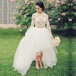 Dropshipping High Neck Lace Wedding Dress Sleeves Uk Free Uk