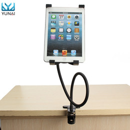 Wholesale Tablet Pc Mounting Bracket - Wholesale- YUNAI 360 Degree Stand Holder Bracket Mount for iPad 2 3 4 Air 5-9.5 Inch Flexible Gooseneck Tablet PC Adjustable Holder Stand