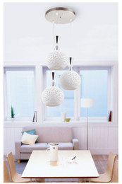 Wholesale Modern Ceramic Lamp - Free delivery, ceiling light LED simple modern ceramic living room crystal lamp restaurant chandelier pastoral white three bar lamp