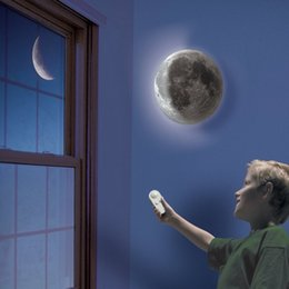 Wholesale Indoor Material - Indoor ABS Material 6 Kinds Phase of the Moon LED Wall Moon Lamp With Remote Control Relaxing Healing Moon Night Light for Kids