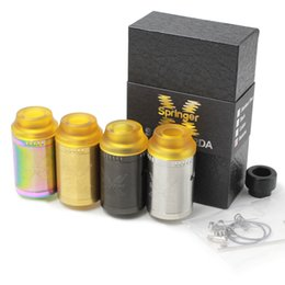 Wholesale Post Springs - Springer X RDA Clone 24MM 2.0ML Dual Gold-plated Big Posts with Built-in Spring In Both Posts Vape Fit 510 E Cigarette