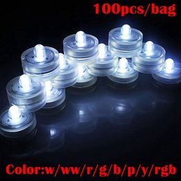 Wholesale Underwater Sub - Underwater Lights LED Candle Lights Submersible Tea Light Waterproof Candle Underwater Tea Light Sub Lights Battery Waterproof Night Light