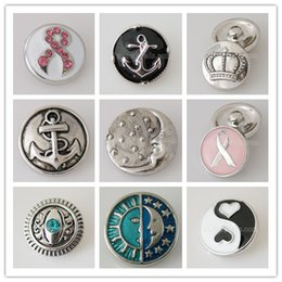 Wholesale Trend Accessories Wholesale - Partnerbeads Noosa Interchangeable Trend Metal 20MM Snap Button Snap Jewelry Accessory DIY Snap Charms KB6118