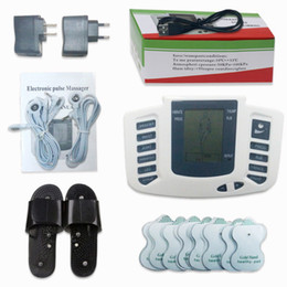 Wholesale Digital Therapy Pulse Massager - Electrical Stimulator Full Body Relax Muscle Digital Massager Pulse TENS Acupuncture with Therapy Slipper 16 Pcs Electrode Pads