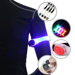 Wholesale Running Reflective Bands - Wholesale-Hot Running Sports Arm Band LED Luminous Bracelet Night Run Lights Safe Cycling Equipment Leggings Reflective Wristbands T1226