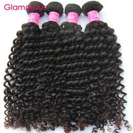 Wholesale Malaysian Remy Hair Free Shipping - Glamorous Hair Wholesale 5 Bundles Peruvian Indian Malaysian Brazilian Hair Deep Wave Raw Unprocessed Virgin Human Hair Weaves Free Shipping