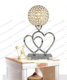 Wholesale Crystal K9 Table Lamp - 2017 NEW Fashion E14 led K9 crystal Table Lamps floor lamps led bedroom MYY