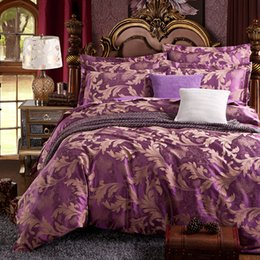 Wholesale Discount Bedding Sets Twin - Wholesale- Discount! ! 2016 new arrival 4pcs of bedding set include duvet cover bed sheet pillowcases satin jacquard home textile.