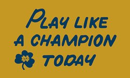 Wholesale Notre Dame Fighting Irish - Notre Dame Fighting Irish custom flags 90x150cm polyester digital print banner with 2 Metal Grommets 3x5ft