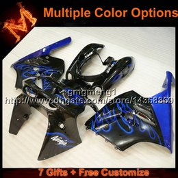 Wholesale 95 Zx9r Fairings - 23colors+8Gifts BLUE ZX9R 1994-1997 Bodywork Set Bodywork motorcycle cowl For Kawasaki Ninja ZX9R 94 95 96 97 ABS Plastic Fairing