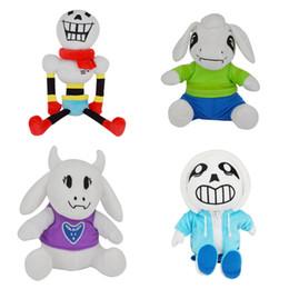 Wholesale free stuff games - Free EMS 20-40CM Undertale San Papyrus Asriel Toriel Stuffed Doll Undertale Plush Toy For Kids Christmas Gifts B