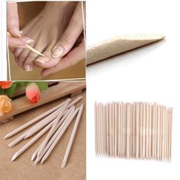 Wholesale Nail Cuticles - Nail Art Orange Wood Sticks Cuticle Pusher Remover Nail Art Beauty Tool New All wooden nail push