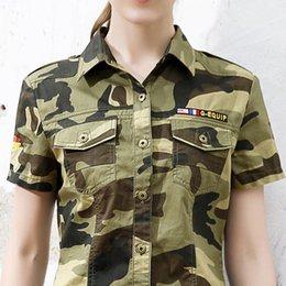 Wholesale Equipment Blouses - Green equipment C692 outdoor camouflage uniforms 2016 spring   Summer Cotton LAPEL SUIT Tactical Short Sleeve Blouse