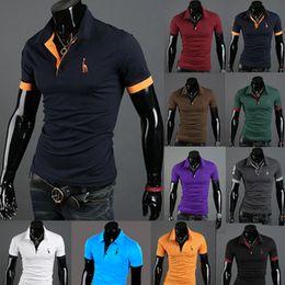 Wholesale Browning Deer Shirt - Wholesale-Plus Size 3XL 2017 New Deer Printed Mens T Shirt Men's Short Sleeve T Shirts Slim Fit Tops Tee