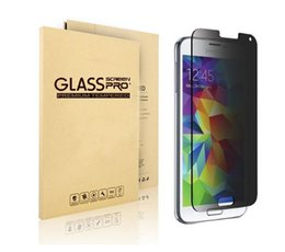 Wholesale Mirrored Screen Protector S4 - Privacy Anti-Spy Glass For Samsung Galaxy Note 3 Note 5 Screen Protector for Samsung S4 S5 J1 Privacy Anti-Spy Tempered Glass Film