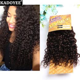 Wholesale Hair Color Pack - Brazilian virgin hair jerry curly hair weaves 1 bundles per pack 8-14inch black brown color 3bundles for full head grade 8A wholesale price