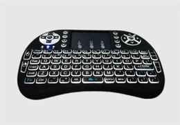 Wholesale Laptop Products - New Product Wireless Keyboard Fly Air Mouse i8 Multi-Media Remote Control Touchpad Handheld With Backlit for Smart TV Android TV BOX Mini PC