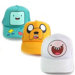 Wholesale Jake Caps - Adventure Time with Finn and Jake action figure toys Cosplay BMO Adjustable Baseball Cap Cute Cartoon Sun Hat For Children Boys