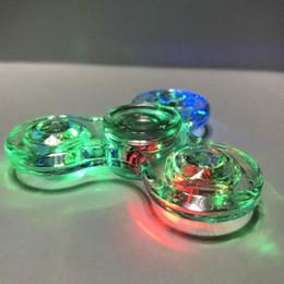 Canada Lumineux Glitter Jelly Crystal TriSpinner Coloré Clair Led Fidget Spinner Avec Lampe Rotation Gyro Doigt Jouet Indépendant Commutateur Allumer supplier big lamp switch Offre
