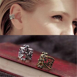 Wholesale Earring Clamps - Ear Cuff for Women DHL Fashion Hollow Type U Clamp Earring Type Retro Ear Cuff Alloy Clip Earrings