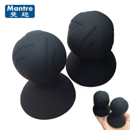 Wholesale sex materials women - 2PC Safe Material Silicone Nipple Clamps Pussy Vagina Clitoris Massager Sucker Pump Breast Enlargers Sex Toys For Women