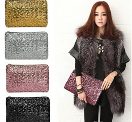 Wholesale Girl Japan Hot Style - hot Fashion Dazzling Glitter Sparkling Bling Sequins Evening Party purse Bag Handbag Women Clutches Envelope Wallet