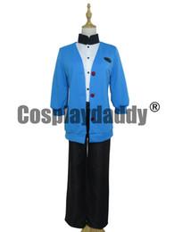 Wholesale Custom Ninja Costume - Science Ninja Team Gatchaman Rui Ninomiya Cosplay Costume Uniform Blue Set H002