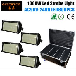 Wholesale Special Usa - 4in1 Flight Case Packing 4XLOT 1000W Stage Led Strobe Light 800PCS SMD 50-50 Cree Led Lamp White Shinning Blinder Special Effect TP-S1000
