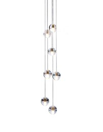 Wholesale Diy Crystal Knobs - Phube Lighing LED Meteor Shower Crystal Chandelier Light Fixtures Stairwell Chandelier Modern Foyer DIY Crystal Chandelier 7 Light