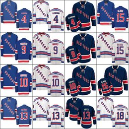Wholesale Ice Wine Glasses - 2017 New York Rangers 4 Adam Clendening 9 Adam Graves 10 Ron Duguay 13 Kevin Hayes 15 Tanner Glass 18 Marc Staal Ice Hockey Jerseys stitch