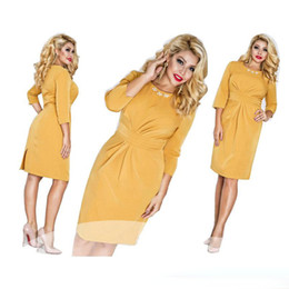 Wholesale Pencil Dresses For Sale - Hot Sale Dress for Women Clothes New Fashion Casual Loose Plus Size Pencil Dresses Women's Clothing