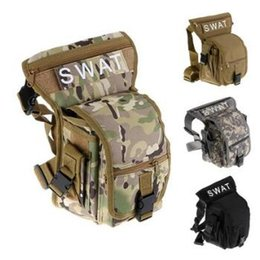 Wholesale Waist Pack Motorcycle - Outdoor Sports Bag Waterproof Motorcycle Waist Fanny Pack Hip Rider Tactical Military Drop Leg Bag CCA7346 50pcs