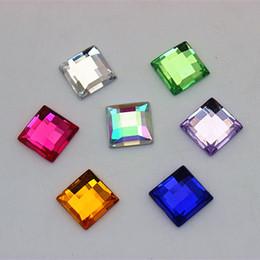 Canada 200 PCS 10 * 10mm Acrylique Dos Plat Strass Cristal Artisanat Décorations ZZ56 Offre