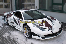 Wholesale Camouflaged Vinyl - Arctic Snow Camo Vinyl Wrap Snow Arctic Camouflage Vinyl Car Styling Bubble Free For Car Sticker