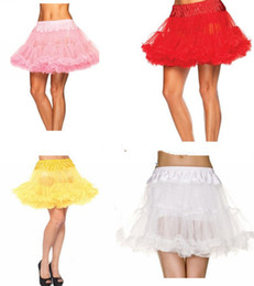 Wholesale Layered Petticoats - Sexy All match Layered Ruffle Mini Tutu Skirt Burlesque Petticoats Clubwear Dance Ball Gown Party Skirts S017 Free shipping