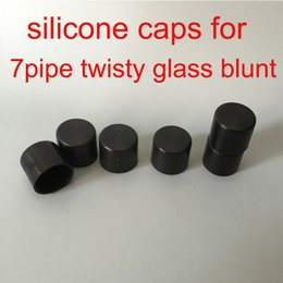 Wholesale Soft Silicone Pen - 7pipe Twisty Glass Blunt silicone cap Rubber caps dry herb vaporizer pen 7Pipe Soft caps for Glass Blunt Smoking Pipes