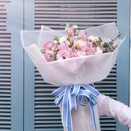 Wholesale Diy Handmade Packaging Materials - Gift Ribbon DIY Handmade Material Double Side Color Simple Ribbon Florist Supplies Korean Flowers Bouquet Packaging 25 yard