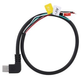 Wholesale Av Cable For Camera - Wholesale- Original SJCAM Micro USB to AV FPV Out Cable Cord for SJ4000 SJ5000 M10 Series Sports Camera