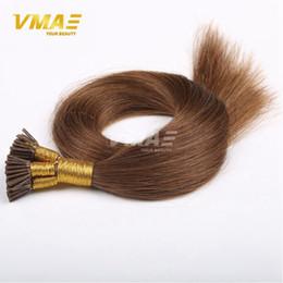 Wholesale I Tip Virgin Remy - 1g  strand 100g Brazilian I-tip Human Pre-bonded Hair Extensions Virgin Remy Human Hair Brazilian Straight Keratin Hair Extensions