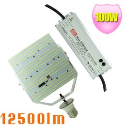 Wholesale Daylight Kit - 100W LED Parking Lot Gas Station Light Daylight 6000K Replace 400W Metal halide HPS E39 LED Retrofit kits