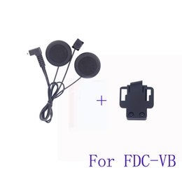 Wholesale Earphones For Motorcycle - 1 PC Soft Earphone&Clip Accessory for FDC-VB Interfono Bluetooth Motorcycle Interphone Helmet Intercom Headset