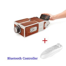 Wholesale Hot Projectors - Wholesale-Hot LED Projector Smartphone Projector DIY Cardboard Mobile Phone Projector Portable Cinema Without Power Supply for Home Cinema