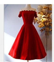 Wholesale Cheapest Night Dresses - Cheapest Europe and United States Slim elgant red wavy A word swing long dress