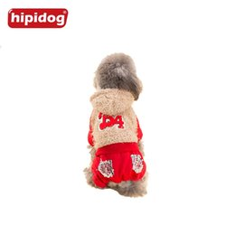 Wholesale Dog Clothes Pants - Hipidog Dog Clothes Sequin Pockets Lace Hoodie Coat Jumpsuit Pants Spring Autumn Winter Outwear Overalls for Dogs Pets XS-XXL