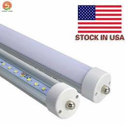 Wholesale Led Lumen - Stock Free Shipping 25pcs lot LED Tube Lights 8Ft Single Pin 45W 5000Lm T8 5000 Lumen Cold White 6000K-6500K 8Ft LED Light
