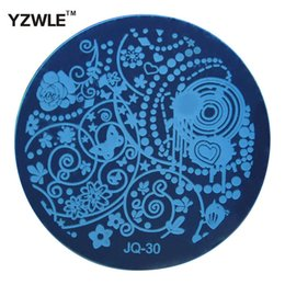 Wholesale Hot Stamping Tools - Wholesale-YZWLE Hot Sale Nail Art Stainless Steel Plate Image Stamp Stamping Plates DIY Manicure Template Nail Polish Tools (JQ-30)