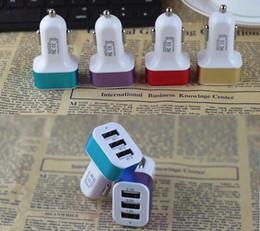 Caricabatteria da auto Adattatore Mini Traiver Spina da auto universale Tripla 3 Porte USB Caricatore USB per iPhone X 8 iPad iPod Samsung Note 8 S8 Plus S7 S6 Edge da