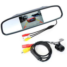 Wholesale Digital Camera Lcd - Auto Parking Assistance System 2 in 1 4.3 Digital TFT LCD Mirror Car Parking Monitor + 170 Degrees Mini Car Rear view Camera