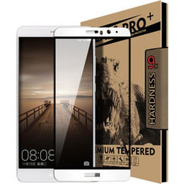 Wholesale Blu Cell Phone Wholesale - New Full Screen HUAWEI Mate9 HD Steel Film Cell Anti Scratch Anti Blu Ray Phone Screen Protector Perfect Fit Huawei Mate9 Gold White